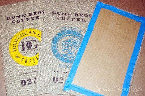 Coffee Sack Art ~ Simple DIY kitchen art project