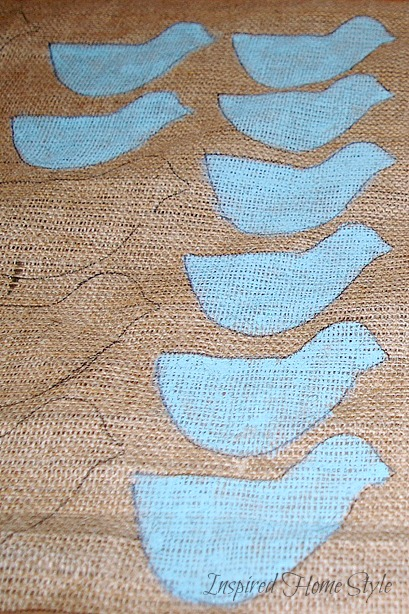 Spring Specimen Art ~ DIY Burlap Wall Decor