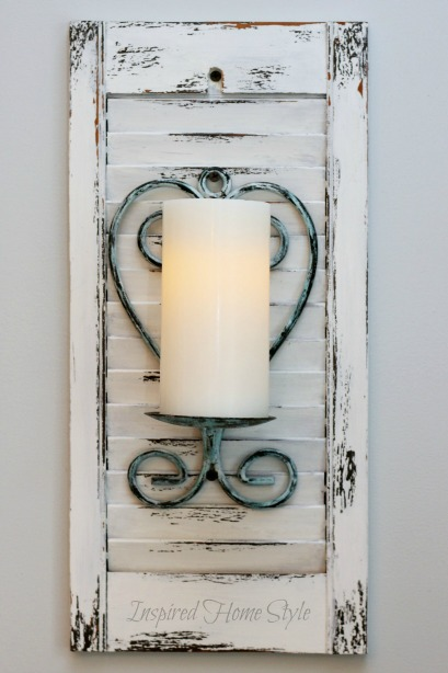 Diy Wall Sconces For Candles : DIY Candle Sconce Inspired Home Style