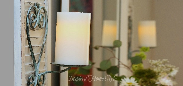 DIY Candle Sconce