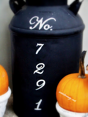 Old Milk Can turned Address Marker