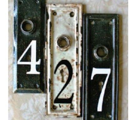 Vintage Number Keyplates