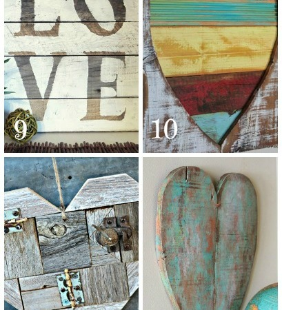 The ULTIMATE guide to Valentines Day decorations  ~ reclaimed lumber, crafts and easy to follow tutorials