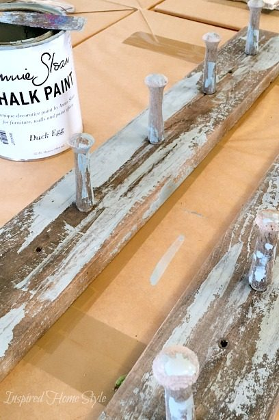 Distressed Coat Hook ~ Scrape Painting Technique using Annie Sloan Chalk Paint